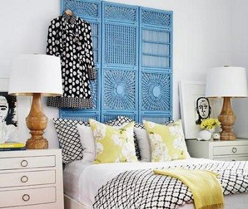 Decorating with drama dressing screen headboard for Biombos exterior ikea