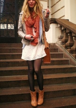 Summer Dresses Layered For Winter