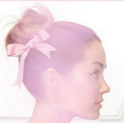 ballerina bun + bow