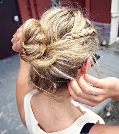 braid + topknot