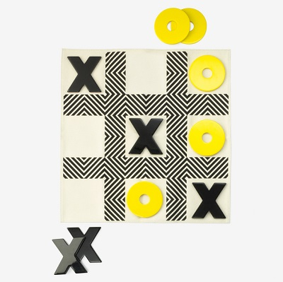 kate spade saturday tic tac toe game set