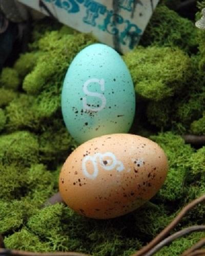 monogram eggs