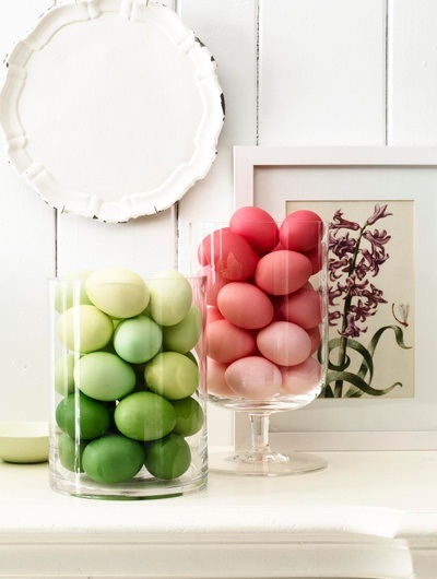 ombre egg display