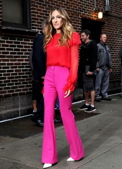 sjp brights color blocking