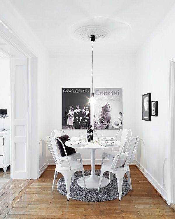 neutrals grey and white dining