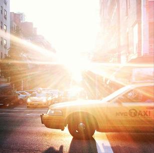 nyc taxi sun