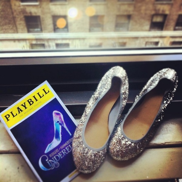 cinderella glitter shoes