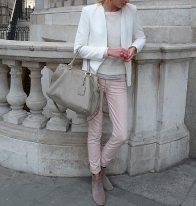 pink pastel + grey & white