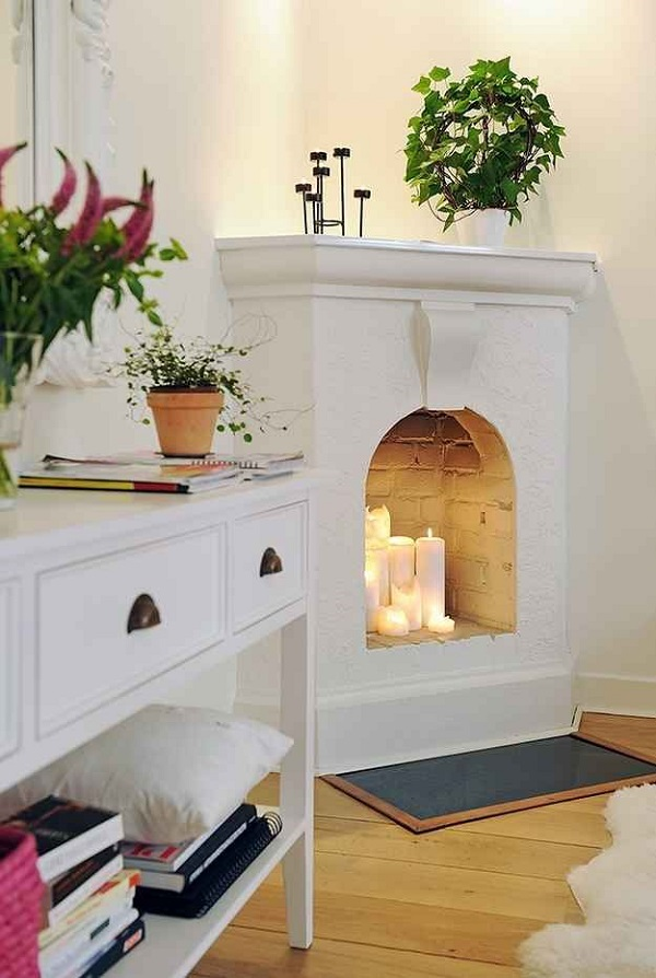Home Decor Wish List: A Fireplace & Cozy Candles