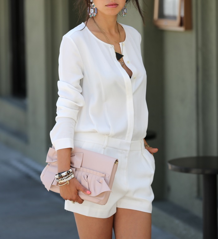 All White Romper For Summer