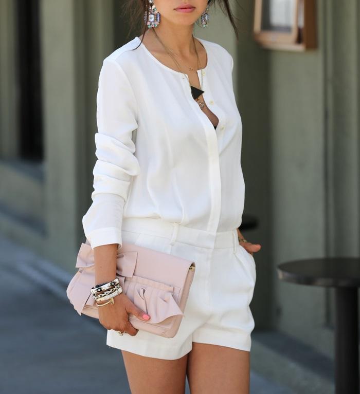 All White Romper For Summer