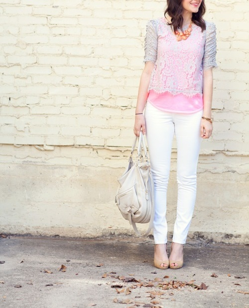 White Out: White Denim & Lace