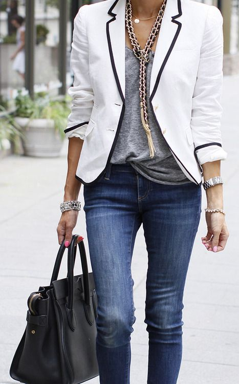 Why You Should Wear A White Blazer In May