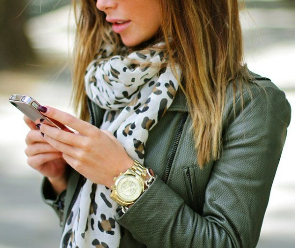 Transitional Style   Leopard Scarf