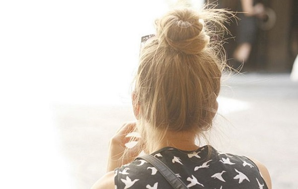 Summer Hairstyle - The Topknot