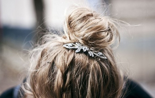 Summer Hairstyle - The Topknot + Clip