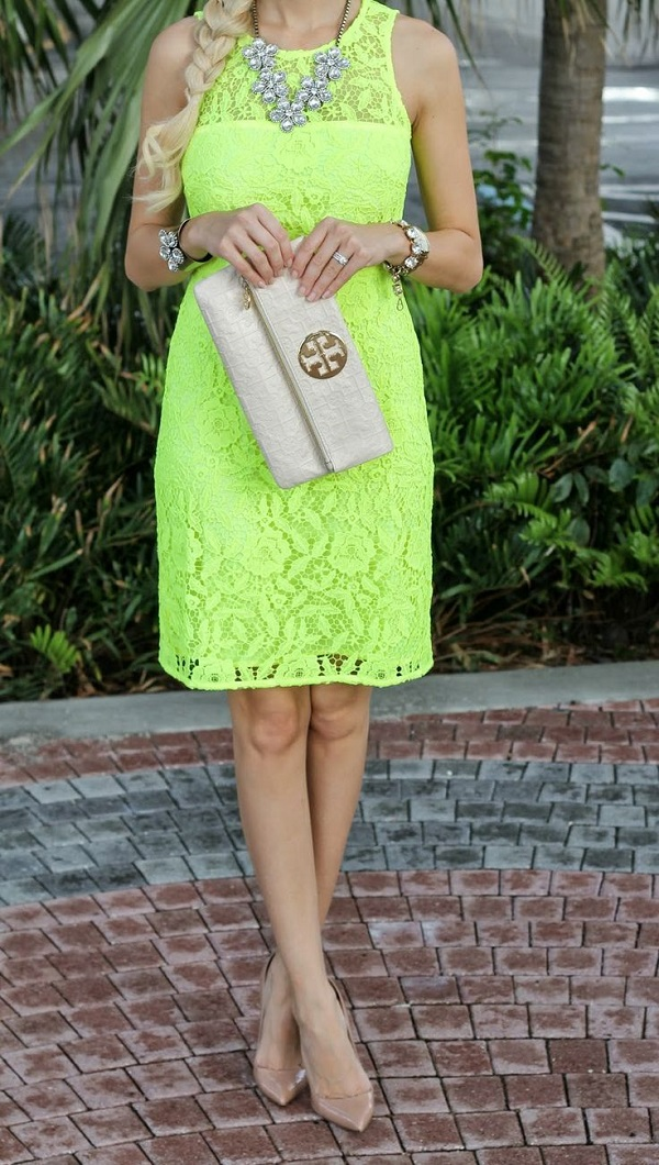 Lace + Neon | Summer Dress