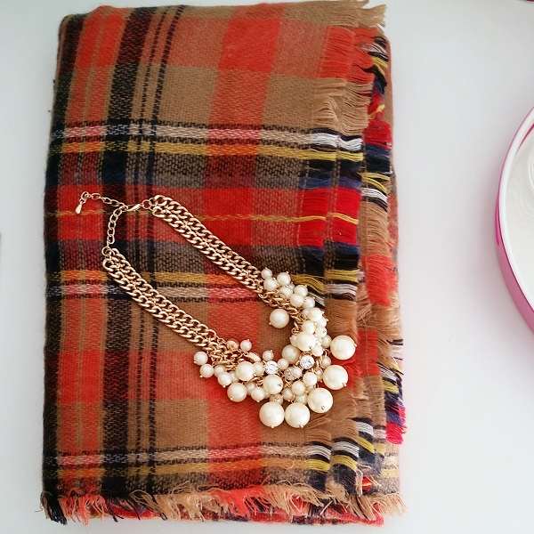 Friday's Five - Plaid & Pearls