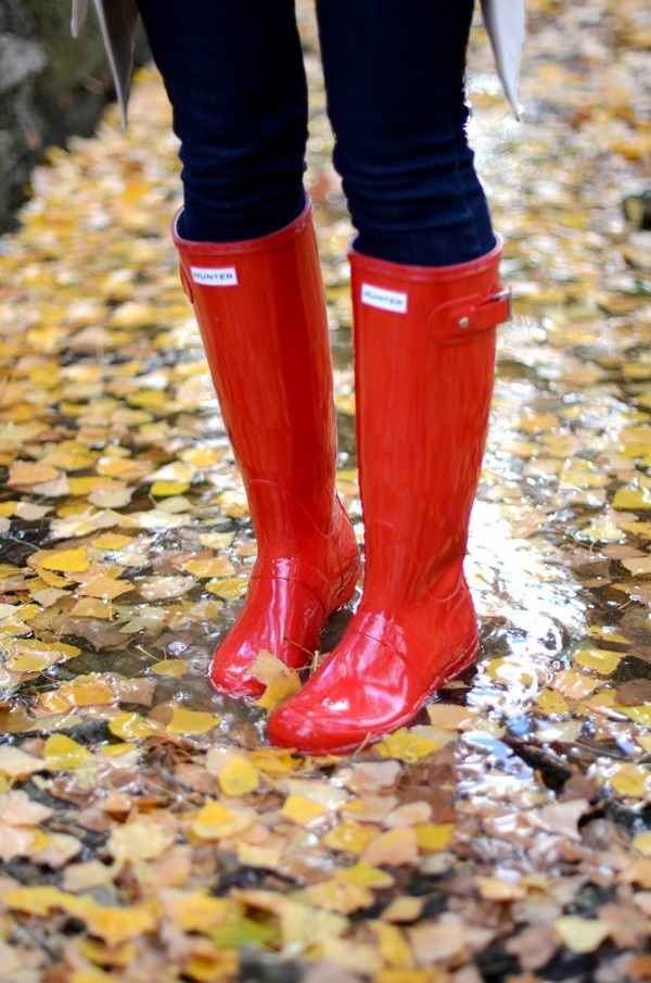 Wednesday Wishes x Glossy Red Hunter Rain Boots