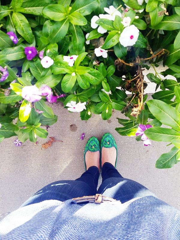 Wildflowers + Tory Burch Flats