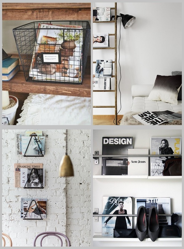 creative ways to store and display magazines