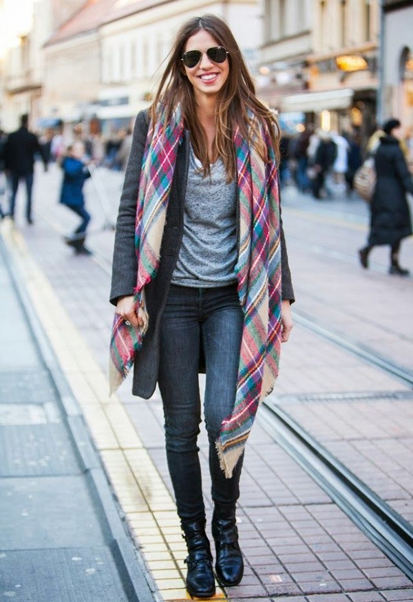 6 Ways to Style a Blanket Scarf