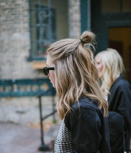 Lazy Girl Glam | The Half-Bun How To