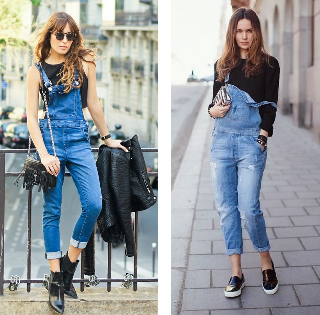 overalls black accents
