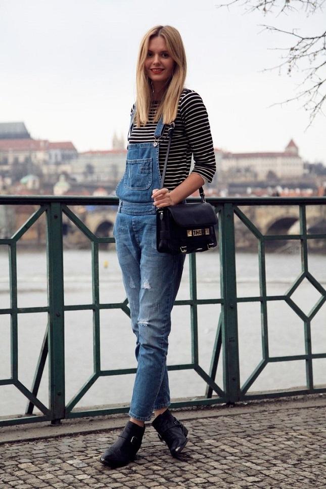 overalls striped