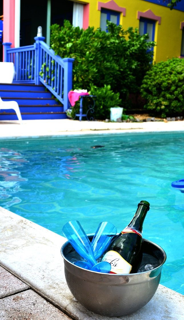 kw rw poolside champagne