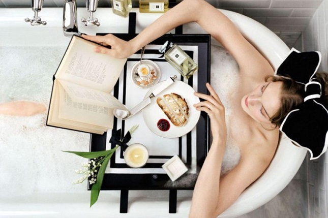 a decadent bubble bath