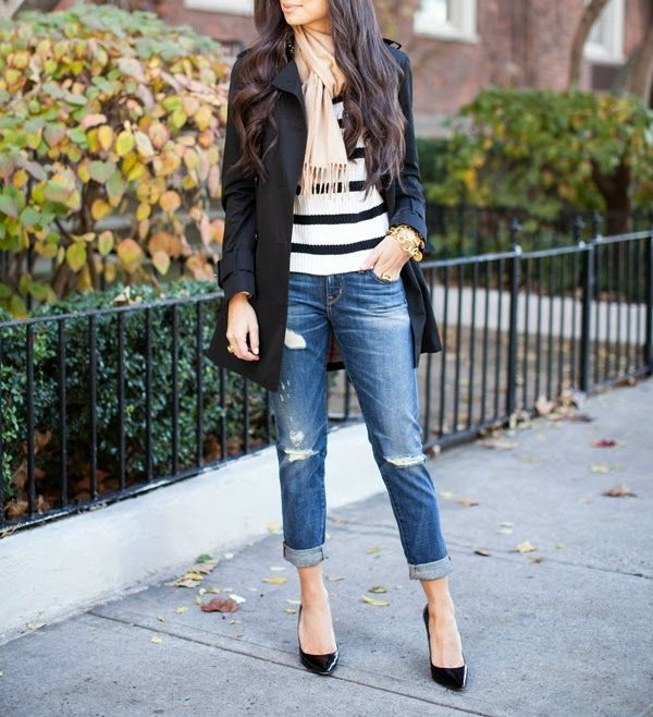 bf jeans fall layers