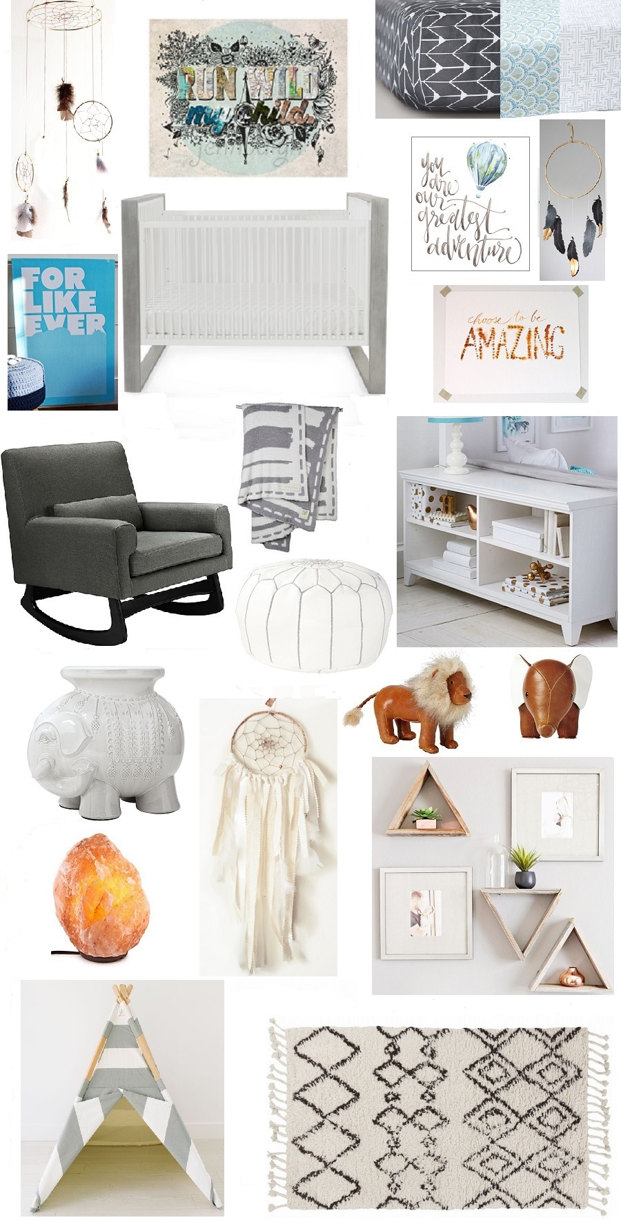 nursery decor inspiration board