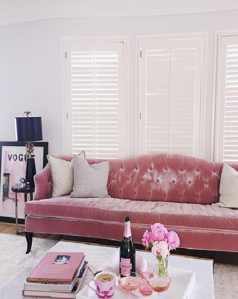 GMG pink sofa