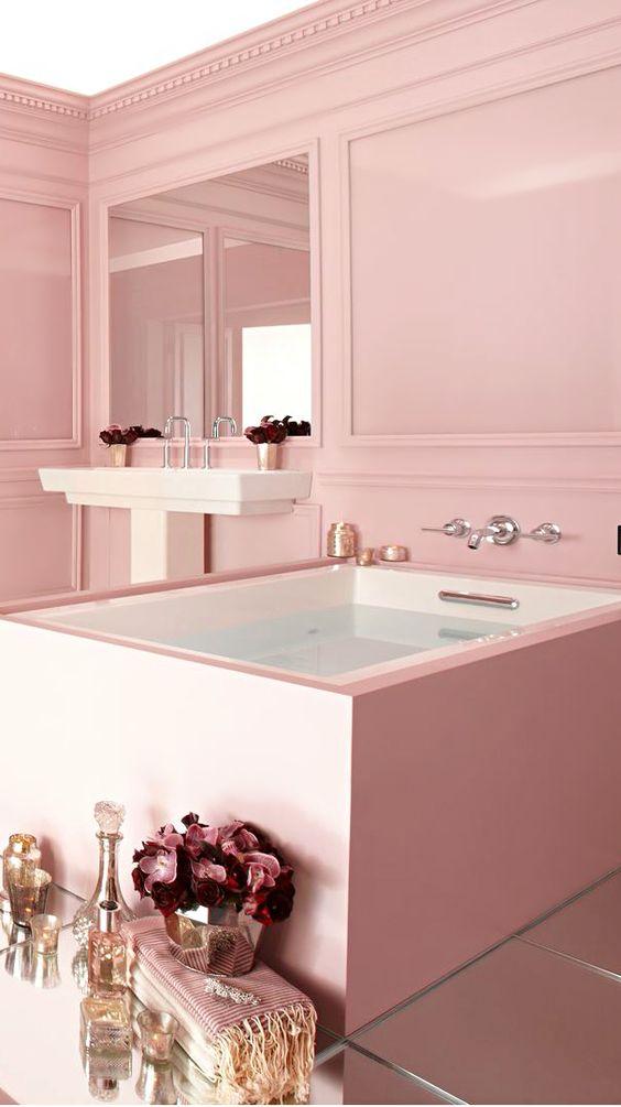 pink bathtub