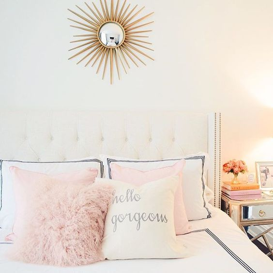 pink gold bed