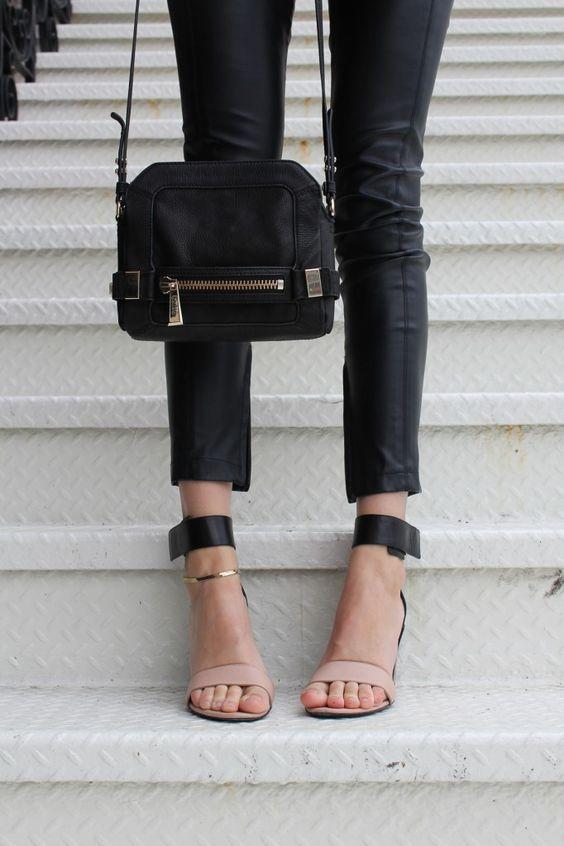 sandals black thick straps