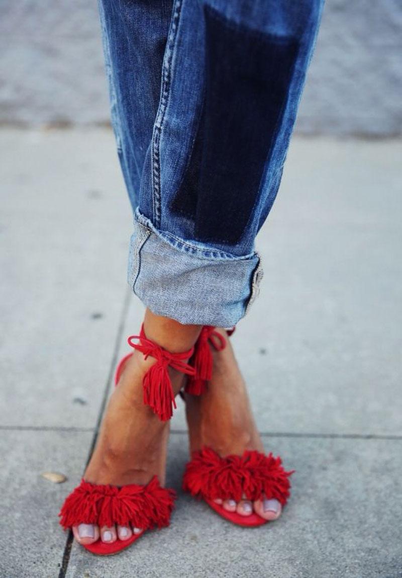 sandals frill sandals