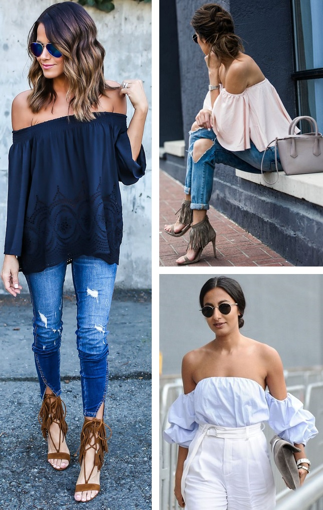 summer wishes of the shoulder tops